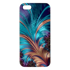 Feather Fractal Artistic Design Apple iPhone 5 Premium Hardshell Case