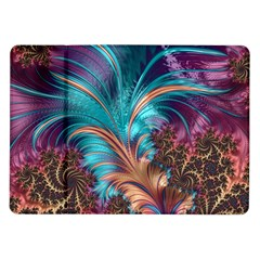 Feather Fractal Artistic Design Samsung Galaxy Tab 10.1  P7500 Flip Case