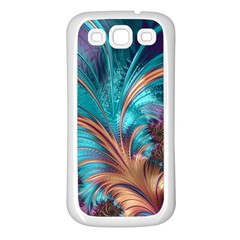 Feather Fractal Artistic Design Samsung Galaxy S3 Back Case (White)
