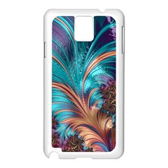 Feather Fractal Artistic Design Samsung Galaxy Note 3 N9005 Case (White)