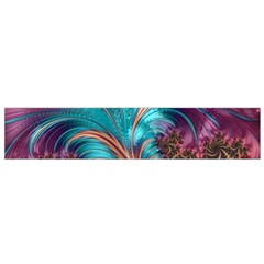 Feather Fractal Artistic Design Flano Scarf (Small)