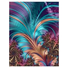 Feather Fractal Artistic Design Drawstring Bag (Large)