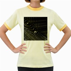 Fractal Mathematics Abstract Women s Fitted Ringer T-Shirts