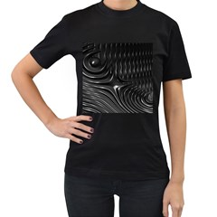 Fractal Mathematics Abstract Women s T-Shirt (Black) (Two Sided)