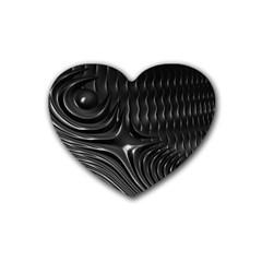 Fractal Mathematics Abstract Rubber Coaster (Heart)