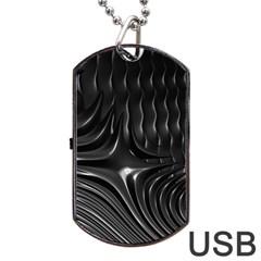 Fractal Mathematics Abstract Dog Tag USB Flash (Two Sides)