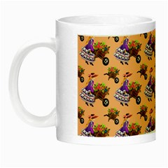 Flowers Girl Barrow Wheel Barrow Night Luminous Mugs