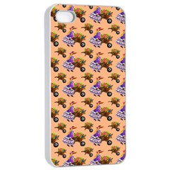 Flowers Girl Barrow Wheel Barrow Apple iPhone 4/4s Seamless Case (White)