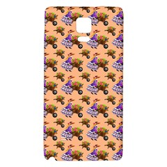 Flowers Girl Barrow Wheel Barrow Galaxy Note 4 Back Case