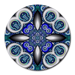 Fractal Cathedral Pattern Mosaic Round Mousepads