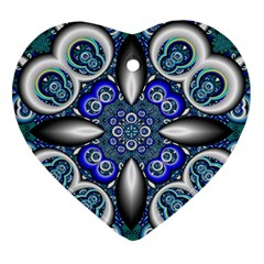 Fractal Cathedral Pattern Mosaic Ornament (Heart)