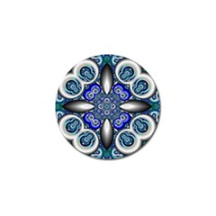 Fractal Cathedral Pattern Mosaic Golf Ball Marker
