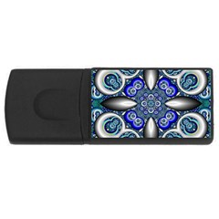 Fractal Cathedral Pattern Mosaic USB Flash Drive Rectangular (4 GB)