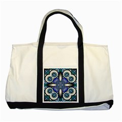 Fractal Cathedral Pattern Mosaic Two Tone Tote Bag