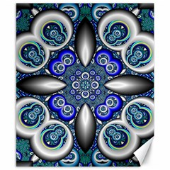Fractal Cathedral Pattern Mosaic Canvas 8  x 10