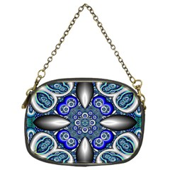 Fractal Cathedral Pattern Mosaic Chain Purses (Two Sides)