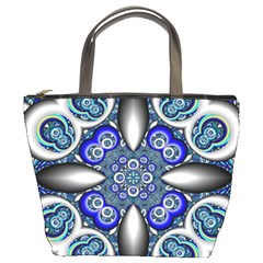Fractal Cathedral Pattern Mosaic Bucket Bags