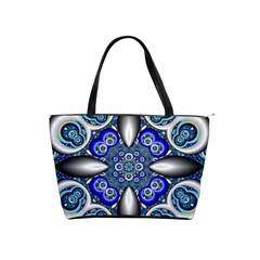 Fractal Cathedral Pattern Mosaic Shoulder Handbags