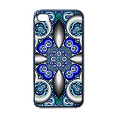 Fractal Cathedral Pattern Mosaic Apple iPhone 4 Case (Black)