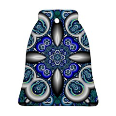 Fractal Cathedral Pattern Mosaic Bell Ornament (2 Sides)