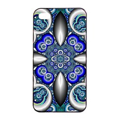 Fractal Cathedral Pattern Mosaic Apple iPhone 4/4s Seamless Case (Black)