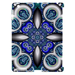 Fractal Cathedral Pattern Mosaic Apple iPad 3/4 Hardshell Case (Compatible with Smart Cover)