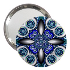 Fractal Cathedral Pattern Mosaic 3  Handbag Mirrors