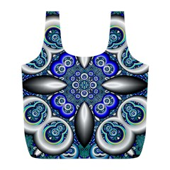 Fractal Cathedral Pattern Mosaic Full Print Recycle Bags (L)