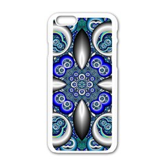 Fractal Cathedral Pattern Mosaic Apple iPhone 6/6S White Enamel Case