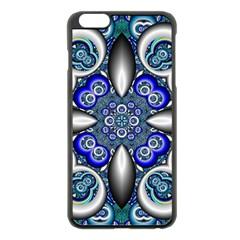 Fractal Cathedral Pattern Mosaic Apple iPhone 6 Plus/6S Plus Black Enamel Case