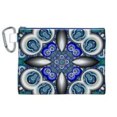 Fractal Cathedral Pattern Mosaic Canvas Cosmetic Bag (XL)