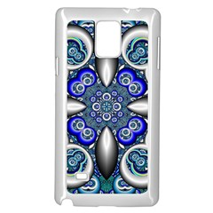 Fractal Cathedral Pattern Mosaic Samsung Galaxy Note 4 Case (White)