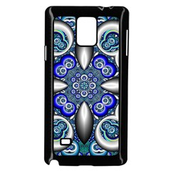 Fractal Cathedral Pattern Mosaic Samsung Galaxy Note 4 Case (Black)