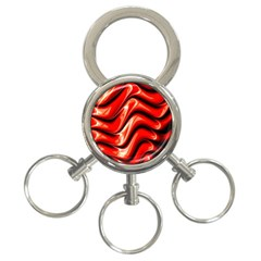 Fractal Mathematics Abstract 3-Ring Key Chains