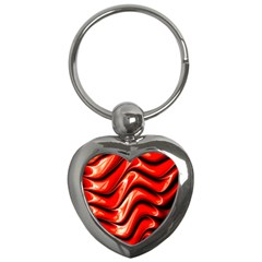 Fractal Mathematics Abstract Key Chains (Heart)