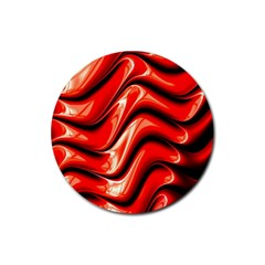 Fractal Mathematics Abstract Rubber Coaster (Round)