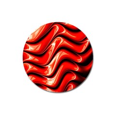 Fractal Mathematics Abstract Magnet 3  (Round)