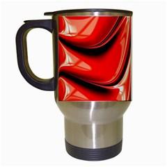 Fractal Mathematics Abstract Travel Mugs (White)