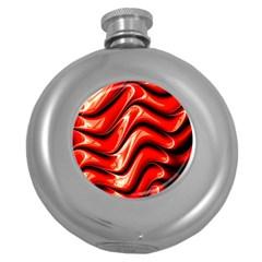 Fractal Mathematics Abstract Round Hip Flask (5 oz)