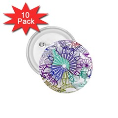 Zentangle Mix 1116a 1.75  Buttons (10 pack)