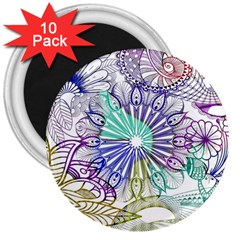 Zentangle Mix 1116a 3  Magnets (10 pack)