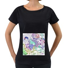 Zentangle Mix 1116a Women s Loose-Fit T-Shirt (Black)