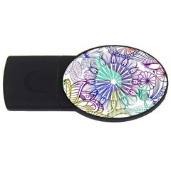 Zentangle Mix 1116a USB Flash Drive Oval (4 GB)