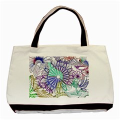 Zentangle Mix 1116a Basic Tote Bag