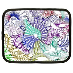 Zentangle Mix 1116a Netbook Case (Large)