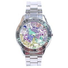 Zentangle Mix 1116a Stainless Steel Analogue Watch