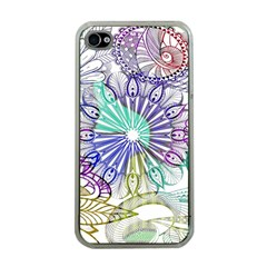 Zentangle Mix 1116a Apple iPhone 4 Case (Clear)