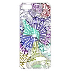 Zentangle Mix 1116a Apple iPhone 5 Seamless Case (White)