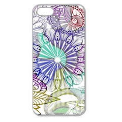 Zentangle Mix 1116a Apple Seamless iPhone 5 Case (Clear)