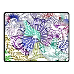 Zentangle Mix 1116a Double Sided Fleece Blanket (Small)